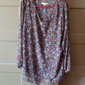 Beautiful CAbi Blue Moroccan Print Tunic/Dress